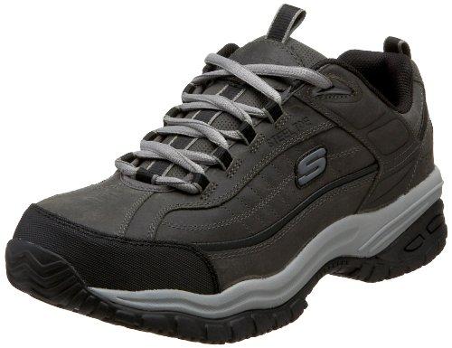 skechers-soft-stride-uomo-us-75-grigio-larga-scarpa-da-lavoro