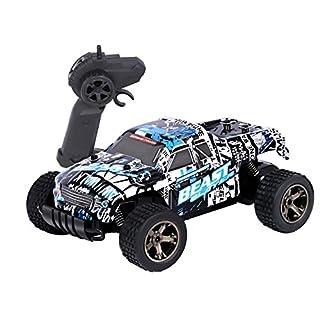 RC Rock Crawler Auto, 2.4 GHz Fernbedienung Racing Buggy Auto 20Kmh Crazy Speed RC Off Road Truck mit wiederaufladbare Batterien Elektrische Energie Buggy Truggy Rennwagen Hobby Spielzeug (Blau1)