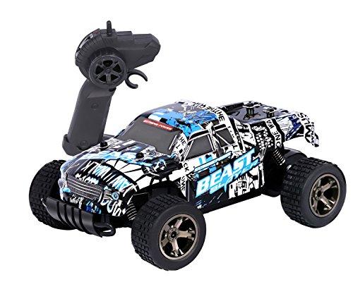Hi Monster (RC Rock Crawler Auto, 2.4 GHz Fernbedienung Racing Buggy Auto 20Kmh Crazy Speed RC Off Road Truck mit wiederaufladbare Batterien Elektrische Energie Buggy Truggy Rennwagen Hobby Spielzeug)
