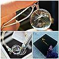 Collier de pissenlit et bracelet ensemble de bijoux assorti Chaîne ARGENT STERLING - pendentif de pissenlit et bracelet à breloques cadeau d'amitié