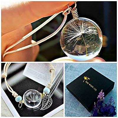 Saint Valentin Collier de pissenlit et bracelet ensemble de bijoux assorti Chaîne ARGENT STERLING - pendentif de pissenlit et bracelet à breloques cadeau d'amitié Bijoux