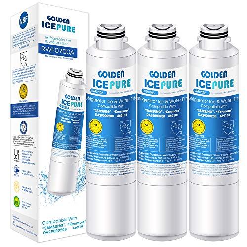 Kühlschrank Wasserfilter Ersatz für Samsung DA29-00020B, DA97-08006A-B, HAF-CIN EXP, DA29-00020A, DA29-00019A 3 Stück von GOLDEN ICEPURE RWF0700A (rechnung vorhanden)