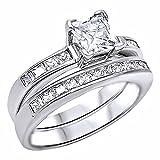 Best 1000 Jewels Wedding Ring Sets - 1000 Jewels Women's Adina: 2.25Ct Princess Cut Ice Review