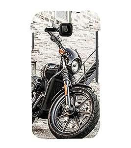 Luxurious Bike 3D Hard Polycarbonate Designer Back Case Cover for Micromax Bolt S301