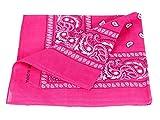 Alsino Bandana Zandana Kopftuch Halstuch Paisley Muster 100% Baumwolle, Farbe wählen:pink 11