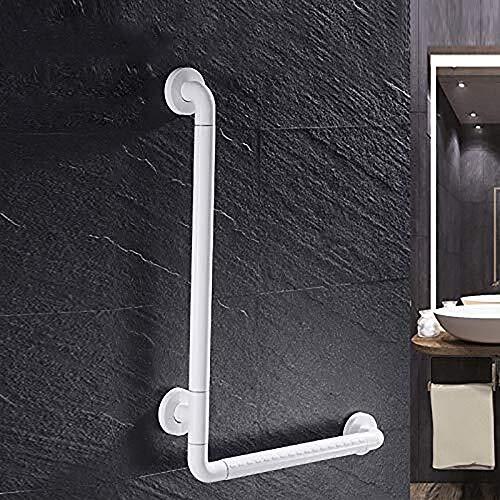 FUSHOU Badezimmer Handlauf Rechtwinklig PVC Haltegriff for Bad und Dusche Edelstahl-Badezimmer-Handläufe for Behinderte und ältere in Toilette WC Gifting Schrauben (Size : 60x40cm)