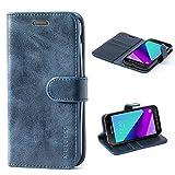 Mulbess Ledertasche im Ständer Book Case / Kartenfach für Samsung Galaxy XCover 4 Tasche Hülle Leder Etui,Dunkelblau