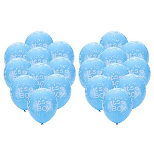 Fenteer 10 Stück Baby Party Latexballons Set - Blau, 12 Zoll