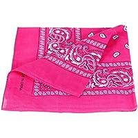 Bandana rosa paisley multifunzione classica BA-11 di colori diversi foulard scialle collo rocker biker motociclista motorcycle pirata accessorio hip hop cappellino bracciale
