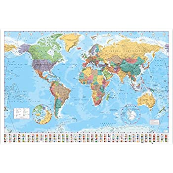 "Gold/"" Maxi Poster 61 x 91.5cm Multi-colour Gb Eye /""world Map Gold World"