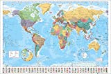 "GB eye World Map, 2015"" Maxi Poster, Multi-Colour, 61 x 91.5 cm"