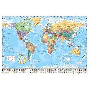 GB eye LTD, Mapa del Mundo, Politico, Maxi Poster, 61 x 91,5 cm