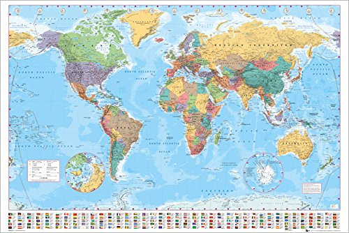 Gb eye world map 2015 maxi poster multi colour 61 x 915 cm gb eye world map 2015 maxi poster multi colour 61 x 915 cm amazon uk kitchen home gumiabroncs Gallery