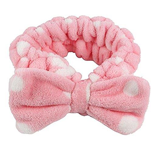Qinlee 1*Bandeau Cheveux Femme Bandeau Coton Bande de Cheveux pour Soin Visage Maquillage Masque