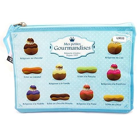 Placa de cubierta 'Mes Petites Gourmandises'azul.