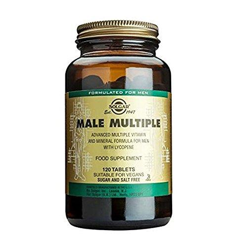 Solgar Male Múltiple Complejo Multivitamínico y Multimineral - 120 Tabletas