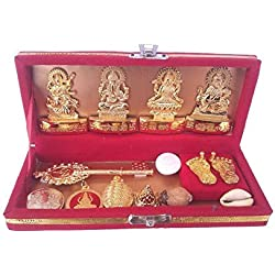 Ankita Gemstones Shri Dhan Laxmi-Kuber Bhandari Yantra - Pack Of 13