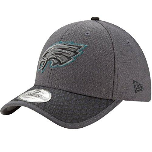 New Era Herren NFL17 3930 SL Phieag Gph Blk Cap, DK Grey, S Hex-weave