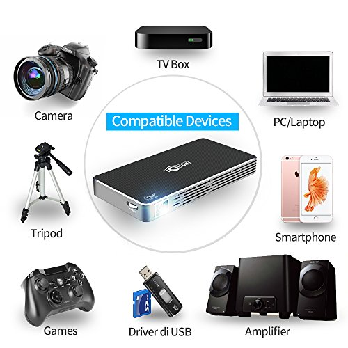TOUMEI C800S Mini Projector Android 7 1 Video projector Support 1080P Compatible HDMI USB TF Card AV for Home Cinema Laptop Game iPhone Android Smartphone