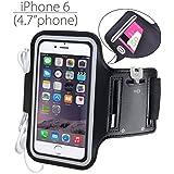 "Avantree iPhone 6 6S (4,7"") Brazalete, Running Sports Gym Brazalete para iPhone 5 5s 5C 4S Samsung Galaxy S3 S4 HTC One con llavero, sujeta cables y porta tarjetas - Shield"