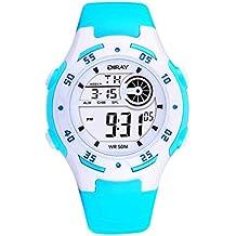 1ecace9f6761 Feoya Moda LED Reloj Digital de Pulsera de Cuarzo (Alarma