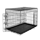 dibea DC00495 Strong Wire Transport Cage for Dogs and Small Animals, Heavy Duty Box