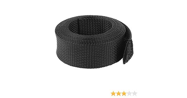 45mm PET Cable Wire Wrap Extensible Gaine Tressée 3 Mètres