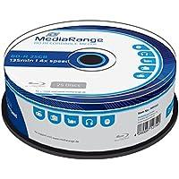 MediaRange MR503 25GB BD-R 25pieza(s) disco blu-ray lectura/escritura (BD) - BD-RE vírgenes (BD-R, 25 GB, 4x, Caja para pastel, 25 pieza(s))