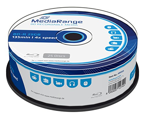 MediaRange MR503 BD-R Blu-ray Disc (25GB 4 x Speed, 25 Stück)