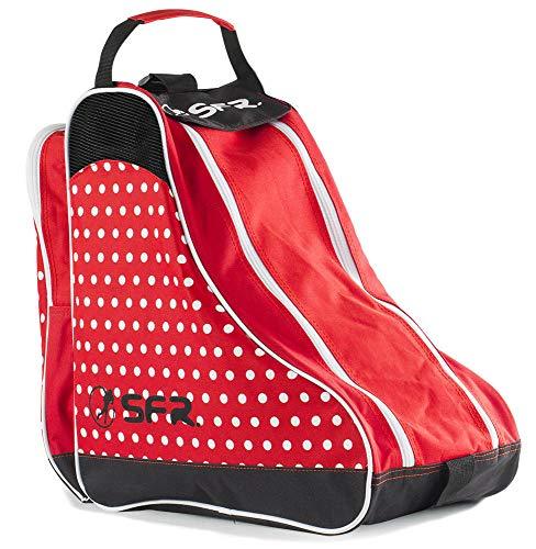 Sfr Skates Unisex-Erwachsene SFR Designer Ice & Skate Bag Stofftasche, Rot (Red Polka), 24x15x45 centimeters
