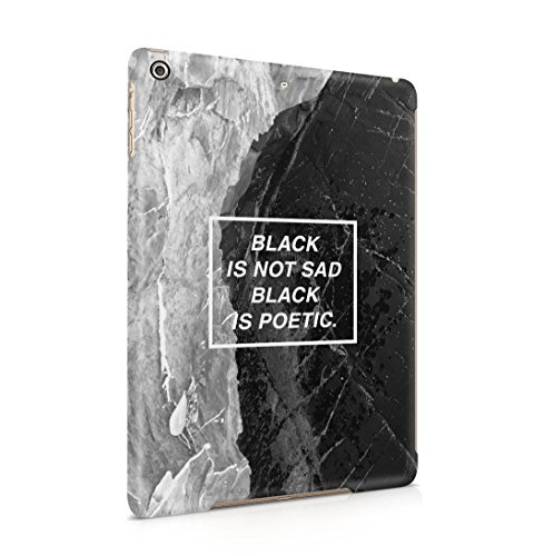 Black is Not Sad, It's Poetic Dünne Rückschale aus Hartplastik für iPad Air 1 Tablet Hülle Schutzhülle Slim Fit Case Cover
