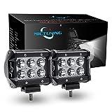 MICTUNING 2pcs 4' 18W Projecteur Phare de Travail Feux Antibrouillard LED Spot LED CREE 4X4 pour Camion, Off Road, 4x4, SUV, UTV, VTT, Bateau, Moissonneuse,etc.