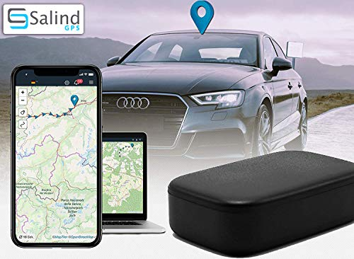 Salind GPS-Tracker Auto, Motorrad, Fahrzeuge und LKW´s mit Magnet, etwa Tage Akkulaufzeit (bis zu 90 Tage im Standby Modus)