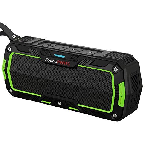 SoundPEATS Altavoces Altavoz Bluetooth Portátil Impermeable, Batería de 2000 mAh,10W de Potencia, POTENTE SONIDO con Mic, Aporta Manos Libres para correr y Exterior, 10Horas Larga Duración de La Batería (P3, Verde)