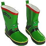 Unbekannt 3-D Gummistiefel Naturkautschuk - Frosch - Gr. 30 - für Kinder Regenstiefel / Matschstiefel Stiefel Quack Frösche Frog grün