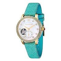 Thomas Earnshaw ES-8029-07 - Reloj automático, correa de piel, color azul de Earnshaw