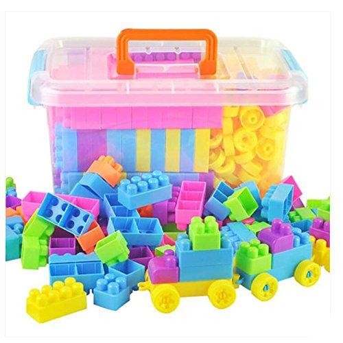 Kinder-Plastik-Bausteine Spielzeug Geschenk Lernen Kinder farbige Blöcke im Behälter , 238