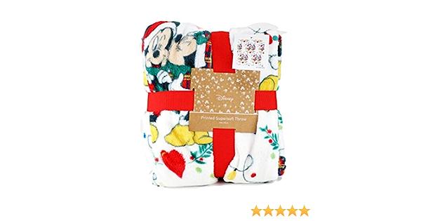Topolino e Minnie Topolino Natale coperta in pile: Amazon.it: Casa e cucina