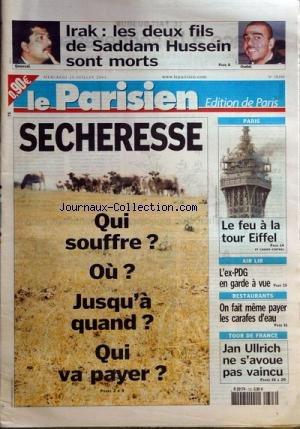 NOUVELLE REPUBLIQUE (LA) [No 17838] du 05/09/2003 - COLONNA ARRETE EN CORSE CE TOUR DE FRANCE A TENDEZ VOUS AVEC L HISTOIRE LOIR ET CHER - BACCALAUREATS ET BREVETS - LES RESULTATS ATHLETISME - NOUVEAU RECORD PERSO POUR L TACITE-BOURY FORMULE1 - MAGNY COURS - SCHUMACHER ENCORE FAVORI PAPON SUSPENDUS APRES SA CONDAMNATION USA - IRAK