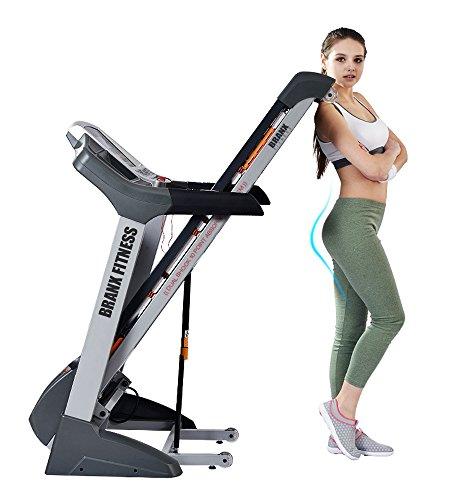 51jP9fL1LvL - Branx Fitness Foldable 'Elite Runner Pro' Soft Drop System Treadmill - 6.5HP Motor 0-22 Level Auto Incline - 'Dual Shock 10-Point Absorption System
