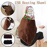 TAOtTAO Schal Kohlefaser Heiztuch USB-weiche beheizte Schal Winter elektrische Erwärmung Hals Schulter Heizung Decke Pad (B)