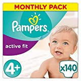 Pampers - Active Fit - Diapers Size 4+ (9-18 kg) - Pack 1 (x35 layers)