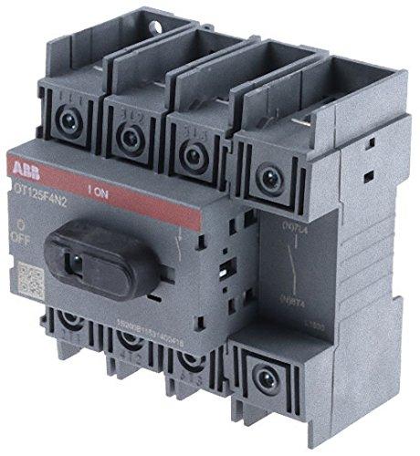 ABB-ENTRELEC OT125F4N2 - INTERRUPTOR SECCIONADOR/SECCIONABLE 4 POLOS 125A 125/90A/A
