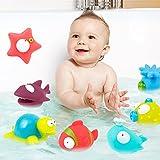 Inchant 9-Pack Océano Squirting juguete del baño para niños, juguete de bañera para bebé