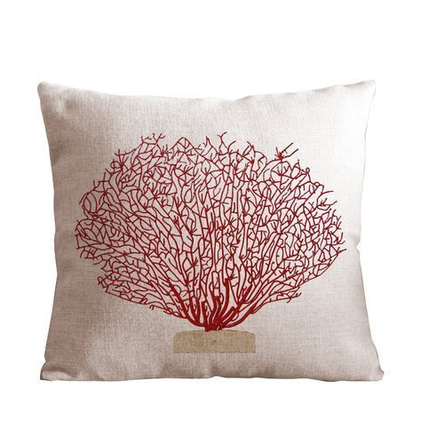 Pillowcase Design 18 X 18 inch (45 X 45cm) red Tree Pillow Protector, Best Pillow Cover,Two Side Printing - Medusa Red Square