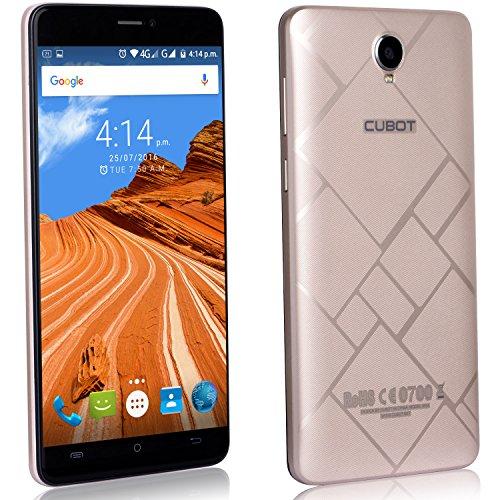 Cubot Max Smartphone ohne Vertrag 6 Zoll HD Touch-Display mit 4100 mAh Akku, 3GB Ram+32GB interner Speicher, Octa-Core Prozessor, Android 6.0, Dual-SIM, 4G LTE FDD, 5MP Frontkamera / 13MP Hauptkamera, IPS 2.5D gebogener Bildschirm Gold [ Cubot Offiziell ]