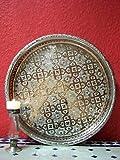 Orientalisches Tablett Nadia 37cm Silberfarbig