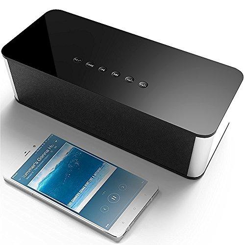 Wireless Bluetooth Portable Lautsprecher mit FM Radio Mp3 Player Funktion HD Sound und Bass Stereo 2200mAh Akku Unterstützung USB und Micro SD Kartenpaare mit allen Bluetooth Geräten JU-DY21