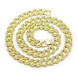 Best Bling collares de diamantes de joyería - ANLW Golden Bling Full Rhinestone Miami Cuban Collares Review