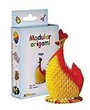 Origami modulari - Set carta 296 pezzi gallina piccola